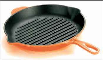 le creuset skillet grillpfanne rund kochgut. Black Bedroom Furniture Sets. Home Design Ideas