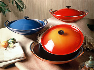 le creuset gusseiserner wok kochgut. Black Bedroom Furniture Sets. Home Design Ideas